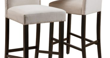 Auburn Fabric Backed Bar Stools Set Of 2 Ivory Transitional with regard to The Awesome  cloth bar stools intended for The house