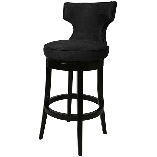 Augusta Black Wood Swivel Bar Stool 13420900 Overstock within The Most Brilliant and also Attractive black swivel bar stools intended for Property
