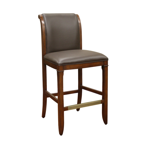 Augusto Bar Stool American Heritage intended for Wood And Leather Bar Stools