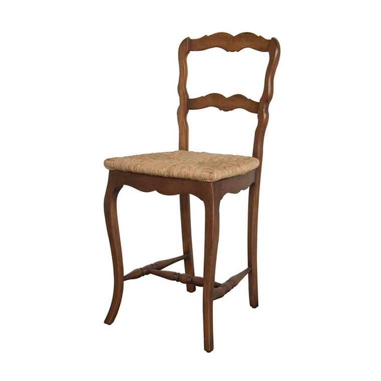Avignon Ladderback Rush Seat Bar Stool Bar Stools Christophe with regard to Rush Seat Bar Stools