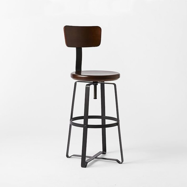 Awesome Adjustable Bar Stool With Back Brexton Adjustable Height pertaining to Industrial Bar Stools With Backs