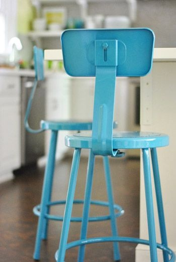 Aqua Metal Stools Decor Tidbits Pinterest Backless Bar regarding The Most Elegant in addition to Attractive aqua bar stools with regard to Your home