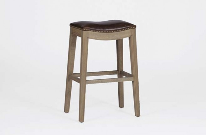 Backless Bar Stools With Padded Seat Vivian Barstool inside Padded Bar Stools