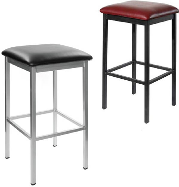 Backless Square Metal Stools F2510b Restaurant Furniture Chairs with regard to Square Bar Stools