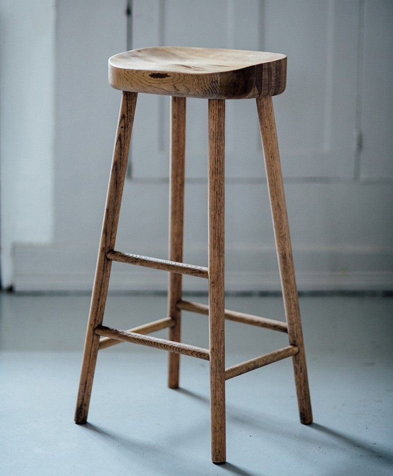 Bailey Weathered Oak Bar Stool Olive Amp The Fox regarding Oak Bar Stools