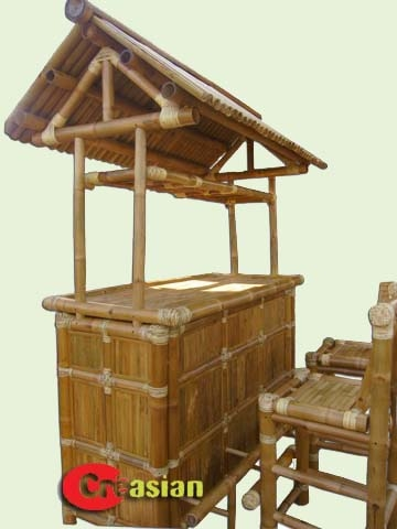 Bamboo Tiki Bar Outdoor Tiki Bar throughout bamboo tiki bar set with 2 stools regarding Inviting