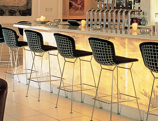 Bar Chair Contemporary Wire For Professional Use Knoll pertaining to Bertoia Bar Stool