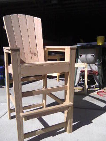 Bar Height Adirondack Chairs From Scrap Wood All regarding Adirondack Bar Stools