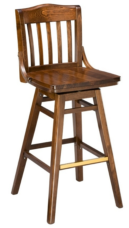 Bar Stool 2454w Sv Swivel Wood Bar Stool School House Wood with regard to Wooden Swivel Bar Stools
