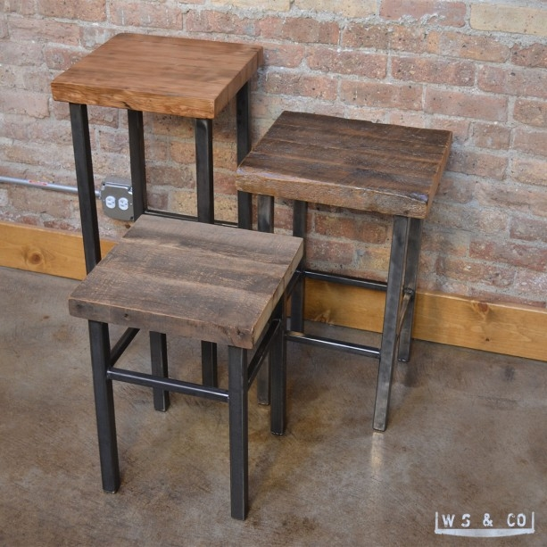 Bar Stool 30quot Reclaimed Wood Amp Metal Legs Aftcra for reclaimed wood bar stool pertaining to Inspire