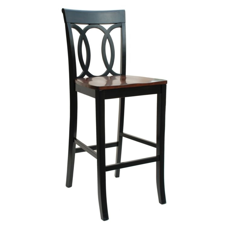 Bar Stool Chair Height Furniture Black Wrought Iron Bar Stool throughout Black Wood Bar Stools