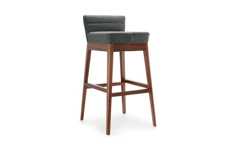 Bar Stool Contemporary Canvas Walnut Callisto Rex with regard to The Elegant as well as Interesting walnut bar stools for Household