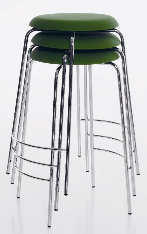 Bar Stool Contemporary Chrome Birch Pastillo Ulla pertaining to Stylish in addition to Beautiful stackable bar stools intended for Property