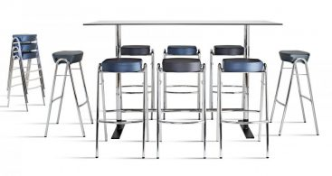 Bar Stool Contemporary Fabric Chrome Stack John Bertil in Stackable Bar Stools