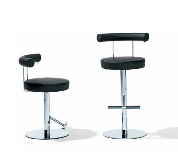 Bar Stool Contemporary Swivel Rst 38 Ronald Schmitt Tische with regard to Modern Swivel Bar Stools