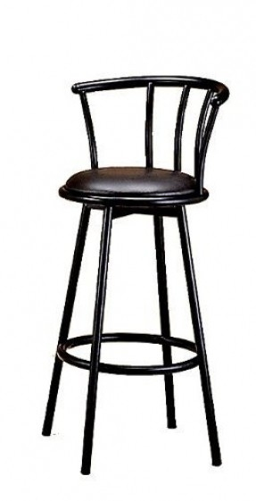 Bar Stool In Satin Black Finish Metal With Swivel Seat And Back 2 Pack Coaster Home Furnishings 46 15 Retro Style Set Of 2 Barstools Comfort And Style inside Coaster Bar Stools