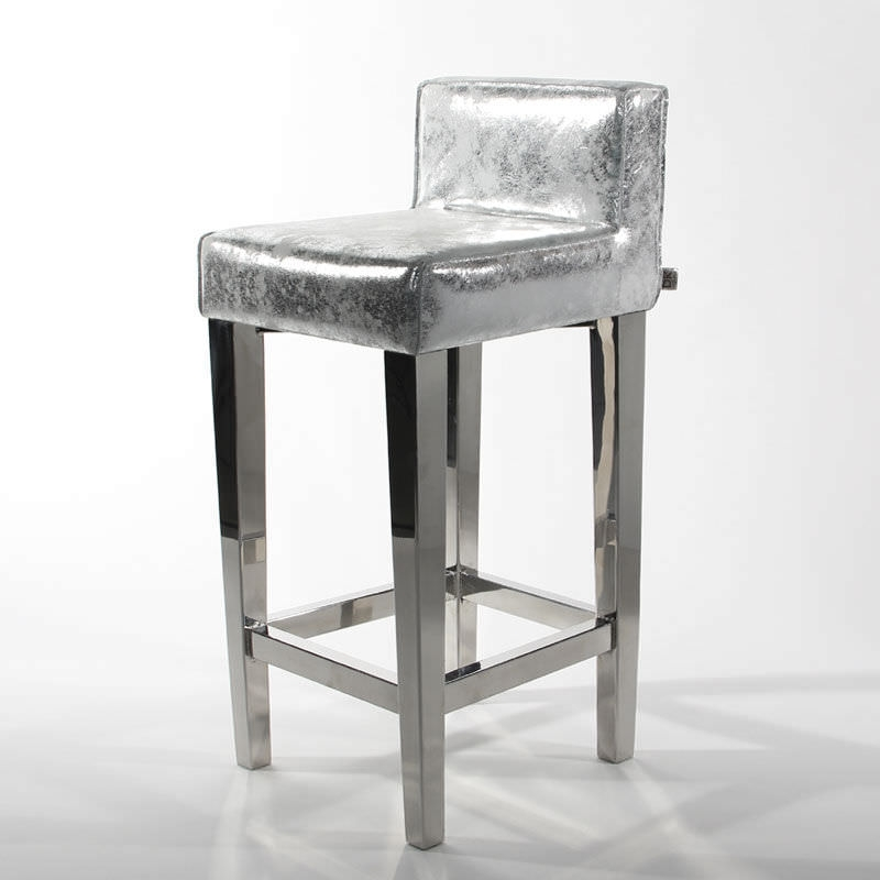 Bar Stool Traditional Silver Iron Goteborg Cravt Original pertaining to Silver Bar Stools