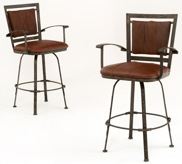 Bar Stools Archives Woodland Creek Furniture with regard to Metal And Leather Bar Stools