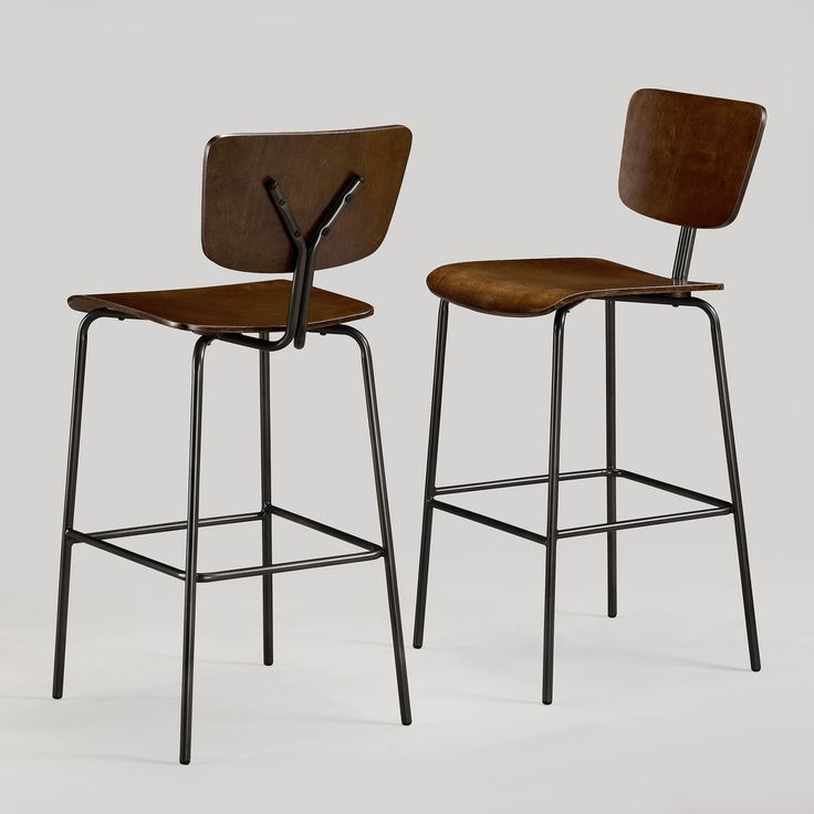 Bar Stools Charcoal And Stools On Pinterest intended for The Most Elegant  bar stool set of 2 intended for Really encourage