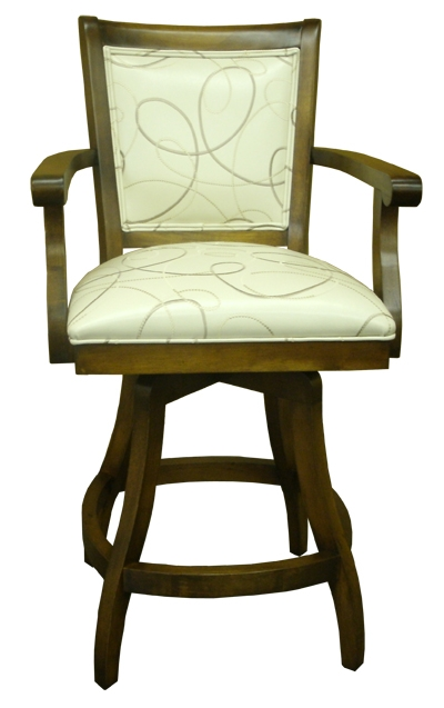 Bar Stools Solid Wood Swivel Bar Stool With Or Without Arms pertaining to Tobias Bar Stools