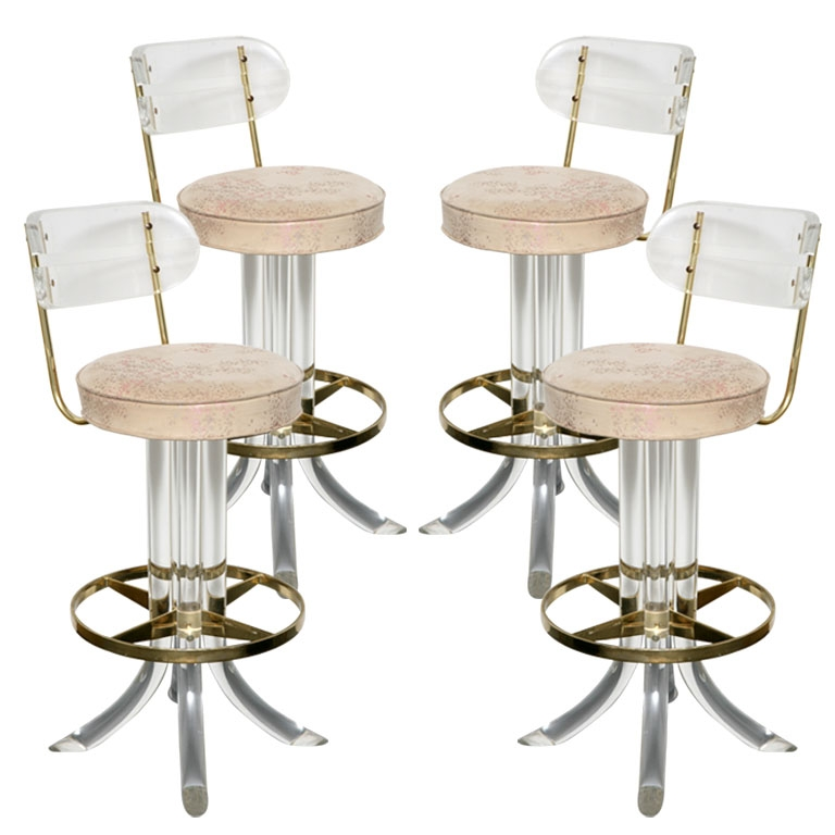 Bar Stools Stools And Bar On Pinterest in Lucite Bar Stool