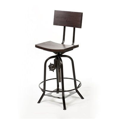 Bar Stools Stools And Industrial On Pinterest pertaining to adjustable bar stool for Property