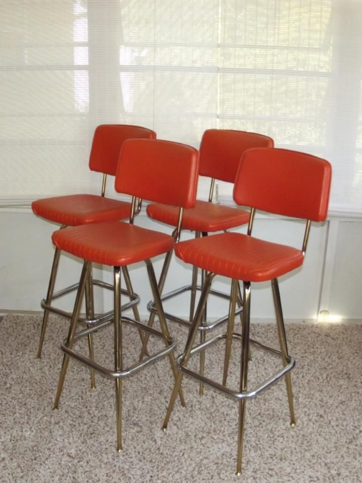 Bar Stools Stools And Retro On Pinterest intended for The Most Brilliant along with Interesting orange bar stools intended for Warm