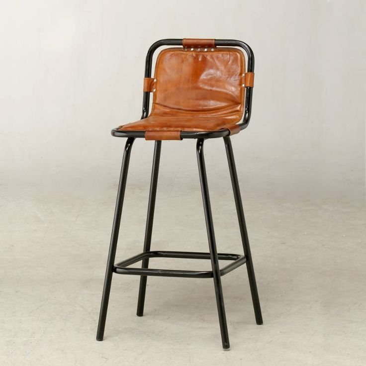 Bar Stools Stools And Steel Frame On Pinterest regarding metal and leather bar stools regarding Really encourage