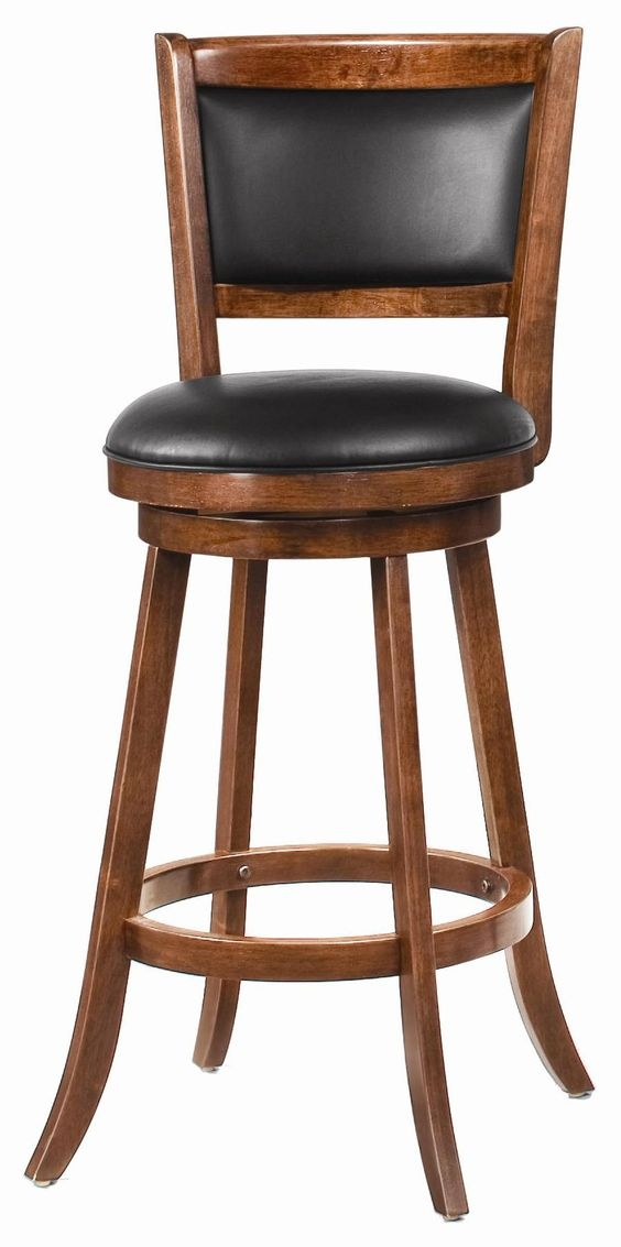 Tatum Swivel Counter Stool Dark Leather Traditional Bar with regard to Leather Bar Stools With Backs That Swivel
