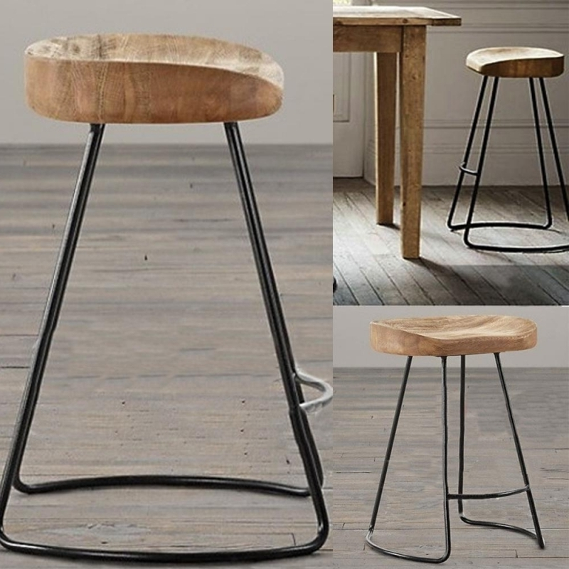 Bar Stools With Wooden Seat And Metal Legs Archives Bar Stools with The Elegant  iron and wood bar stools for Your house