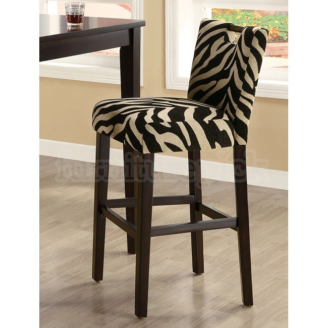 Bar Table Set W Zebra Cut Out Chairs Coaster Furniture regarding Zebra Bar Stools
