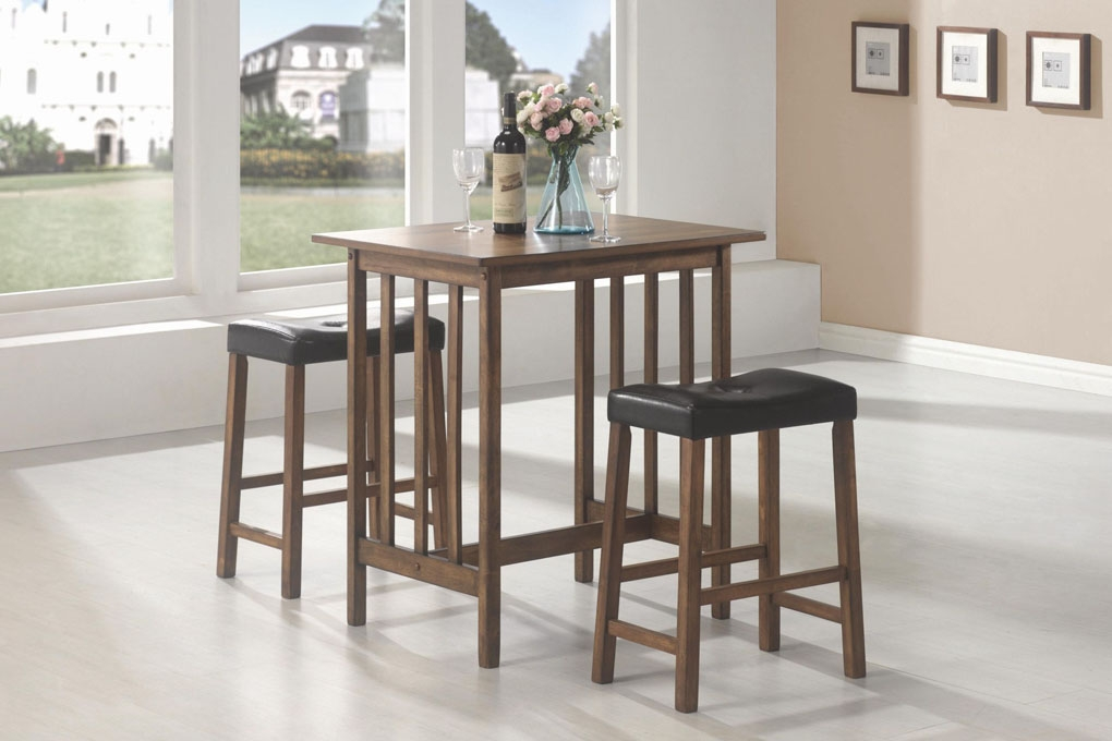 Bar Units And Bar Tables 3 Piece Bar Table And Stool Set pertaining to The Brilliant  3 piece bar stool set with regard to Residence