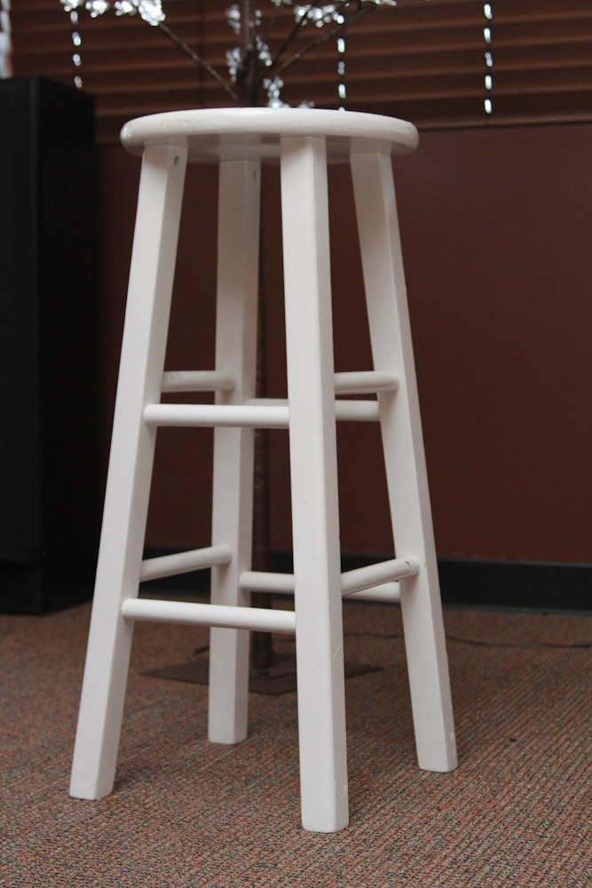 Barstool White Wooden A1 Party with white wood bar stools regarding Inviting