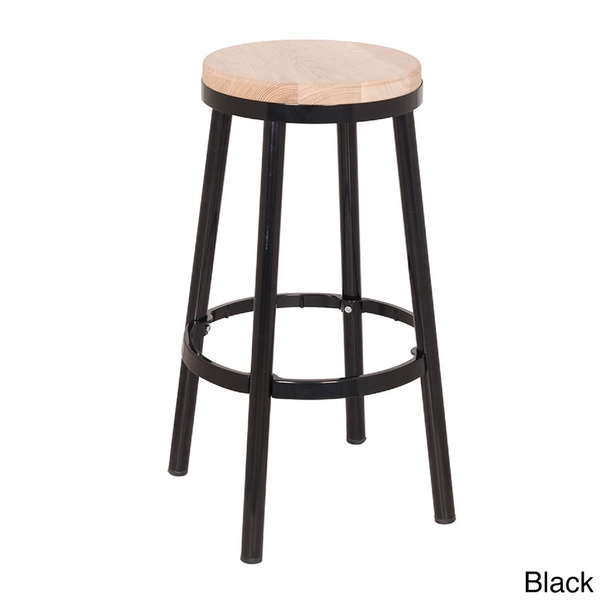 Barstools Sacred Space Imports Pertaining To Metal And Wood Bar for Round Bar Stools