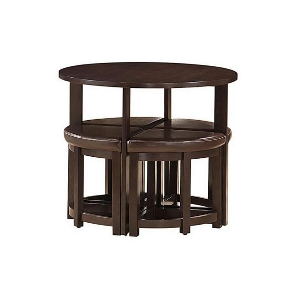 Baxton Studio Rochester Modern Bar Table With 4 Nesting Stools Set with regard to bar table and stool set for Current Residence