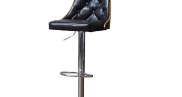 Baxton Studio Wellington Walnut Black Modern Adjustable Height with regard to Adjustable Swivel Bar Stool