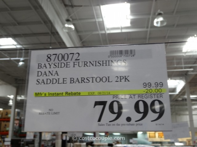 Bayside Furnishings Dana Saddle Barstools throughout The Stylish  bar stools costco for Household
