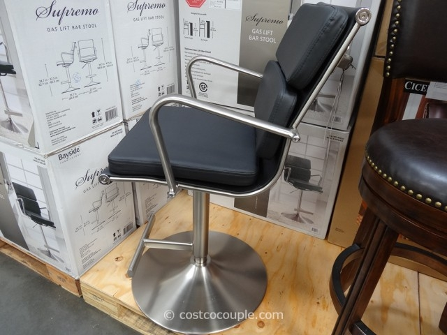 Bayside Furnishings Supremo Gas Lift Bar Stool with costco bar stools intended for Comfortable