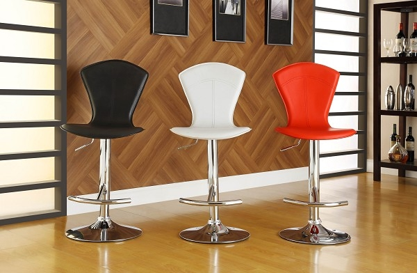Beautiful Adjustable Bar Stool With Back Amerihome Black Comfort within white swivel bar stools with back regarding Motivate