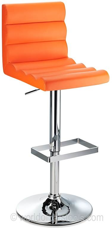 Benitoorangefrontcrop05832zoom for The Brilliant in addition to Beautiful orange bar stool with regard to House
