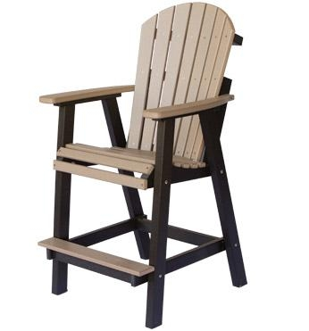 Berlin Gardens Comfo Back Outdoor Poly Bar Stool From Dutchcrafters pertaining to Outdoor Bar Stools With Backs