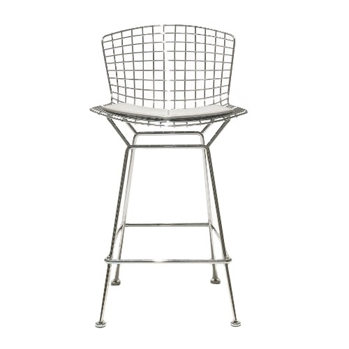 Bertoia Barstool With Seat Cushion Knoll Yliving in Knoll Bertoia Bar Stool
