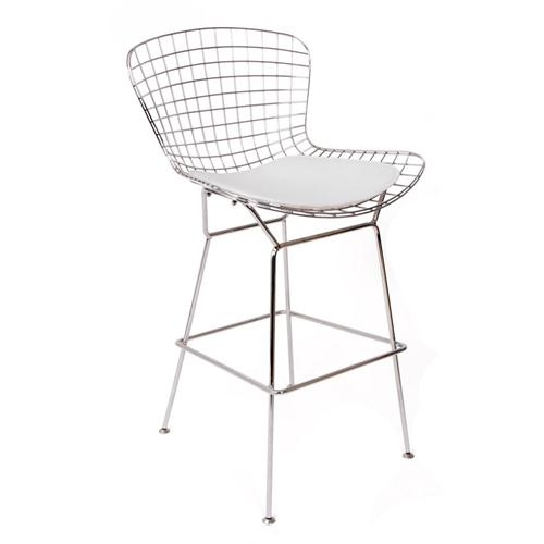 Bertoia Counter Stool With Seat Pad Designed Harry Bertoia For intended for knoll bertoia bar stool intended for Home