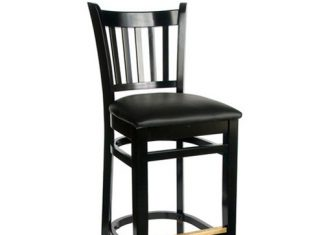 Bfm Seating Delran Black Wood Slat Back Bar Stools With Padded for padded bar stools for Motivate
