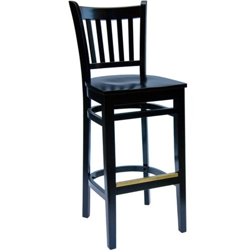 Bfm Seating Delran Black Wood Slat Back Bar Stools With Wood Seat within black wooden bar stools with regard to Your home