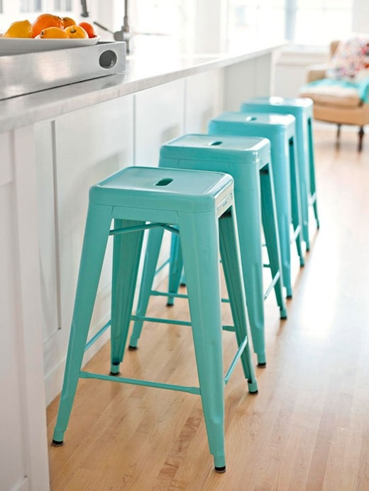 Bhg Centsational Style with Colored Bar Stools