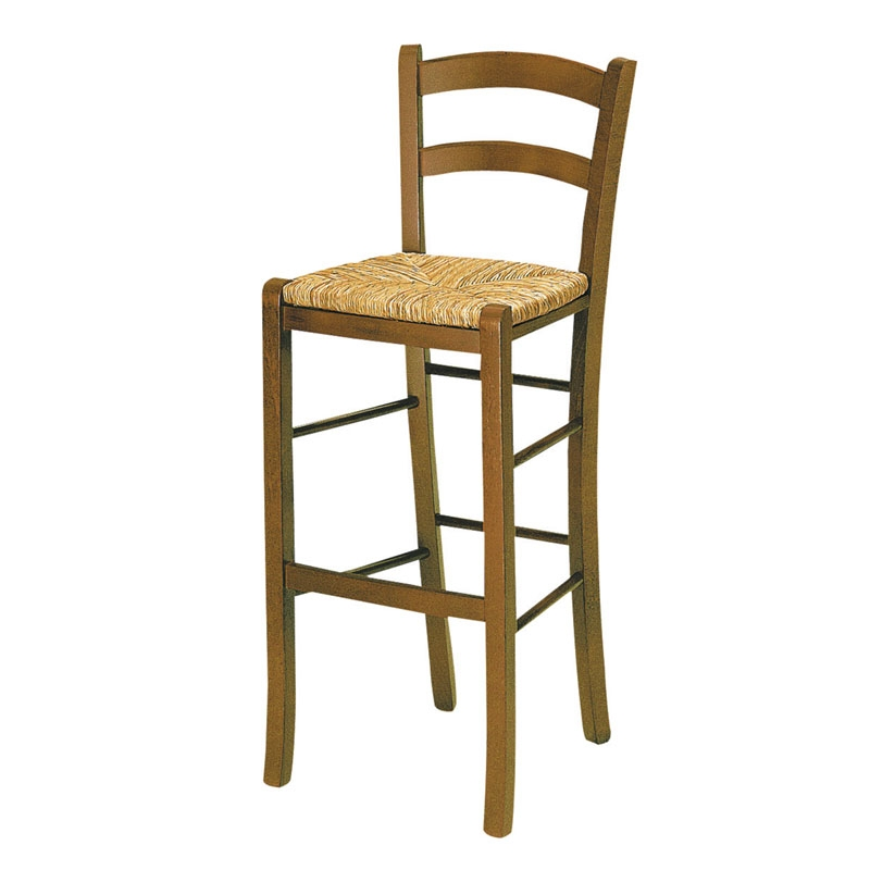Bistro Bar Stool With Rush Seat Andy Thornton with Rush Seat Bar Stools
