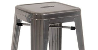 Bistro Style Metal Backless Bar Stool In Clear Finish inside Metal Backless Bar Stools