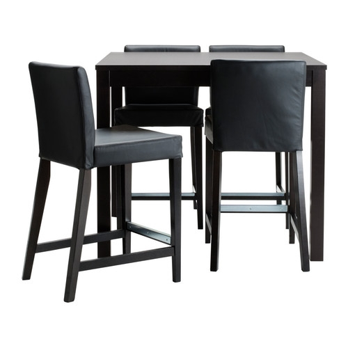 Bjursta Henriksdal Bar Table And 4 Bar Stools Ikea inside Bar Table And Stools