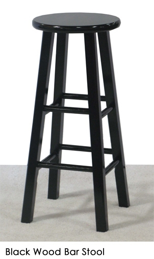 Black Wood Bar Stool Town Amp Country Event Rentals in black wooden bar stools with regard to Your home